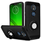 For Motorola Moto G7 Power/G7 Optimo Maxx/Supra Case Shockproof Ring Stand Cover
