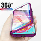 For Samsung Galaxy A10 A20E A30 A40 A50 A60 A70 Full Cover Case + Tempered Glass