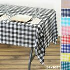 54x108 inch Checkered Disposable PLASTIC TABLE COVER Tablecloth Birthday Party