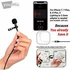 Lavalier Wireless Microphones Lapel For IPhone X 8 7 Plus 6 6s 5 5s / Mini With