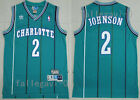 New Men's Charlotte Hornets NO.2 Larry Johnson basketball jersey mesh green on eBay