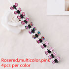 12Pcs Rhinestone Flower Mini Hair Clips Hairpins Hair Accessories For Kids Girls