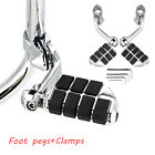 "2X Footrest Motorcycles highway Foot Pegs 1-1/4"" Bars Clamps For Harley Davidson image"