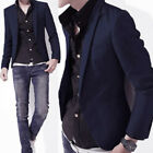 Mens Casual Formal Slim Fit One Button Suit Blazer Business Work Coat Jacket Top