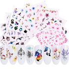 Nail Art Water Decals Flower Necklace Bird Nail Transfer Stickers Decoration DIY