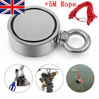 60-300KG Double Sided Salvage Magnet Magnetic Ring W/ Rope Fishing Magnets Tools