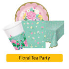Floral Tea Party Birthday Range - Girl Happy Birthday Tablewear Decorations