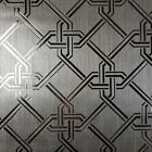Contemporary Wallpaper Modern Silver Metallic geometric textured Square Line 3D