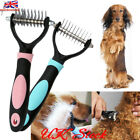 Pet Dog Cat Hair Shedding Blade Trimmer Grooming Rake Comb Brush Open Knot Knife