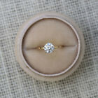0.40 CT Weeding Rings Solitaire Round Cut 14 K Yellow Gold Diamond Ring Size 6