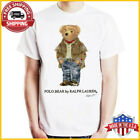 FREESHIP! Vintage T-Shirt 90's POLO Bear Sport Polo Bear White Shirt Full Size image