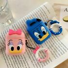 Cute Daisy / Donald Duck Charging AirPod Cover Shockproof Case with Ring Buckle