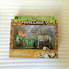 NEW Minecraft Alex 2.75' Figure with Skeleton Horse Carrot Farm Bone Saddle