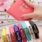 Women Ladies Small Zip Leather Wallet Card Holder Light Chain Purse Handbag Mini image