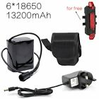 8.4V Rechargeable Battery Pack 18650 Pouch For CREE T6/U2  LED Bike Light Head
