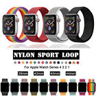Replacement Nylon Sport Loop iWatch Band Strap For Apple Watch 4 38/42mm 40/44mm image