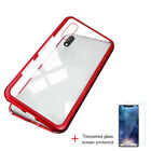 Magneto Magnetic Adsorption Case Clear Tempered Glass Red Clear i-phone XS J4P0