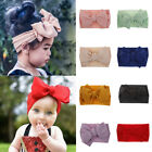 7'' Big Bows Texture Top Knot Cute Wide Headband Hair Band Headwrap For Baby Kid