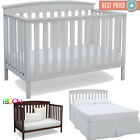 Kyпить Baby Crib 4 in 1 Convertible Sold Wood Convert to Toddler BED Colors Adjustable на еВаy.соm