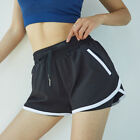 Fake Two Piece Sports Shorts For Girl Running Gym Yoga Shorts Guick-Drying Loose