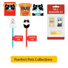 PURRFECT PETS COLLECTION - Kids Stationery Home School Supplies Party Gifts Toys