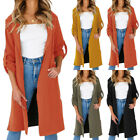 Women Long Sleeve Slim Fit Suit Coat Workout Jacket Casual Formal Tops Cardigan