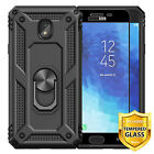 Samsung Galaxy J3 V 2018/Orbit/Star/Achieve/Aura Hard Case Ring Stand+Screen