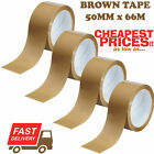 12 X STRONG BROWN PARCEL PACKING PACKAGING TAPE SELLOTAPE CARTON SEALING TAPES