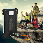 External 50000mAh 2 USB LED Power Bank Solar Battery Charger for Phone + Compass