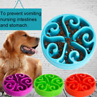 Plastic Grid Design Pet Slow Feeding Bowl Dog Cats Anti Choking Gorging Feeder