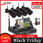 """ANRAN Wireless Security Camera System 4CH with 1TB Hard Drive 7""""LCD Monitor CCTV"""