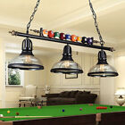 3-light Game Room Metal Billiard Light with Balls Pool Table Lamp with Shades $184.99 USD on eBay
