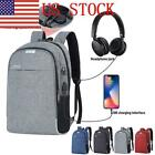 US Unisex Oxford Laptop Backpack Travel Business School Bag&USB Charging Port 03