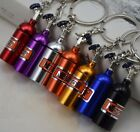 Keychain NOS Mini Nitrous Oxide Bottle Keyring Stash Pill Box Storage 8 Colors