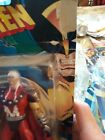 1996 spider man, and xmen figures in boxes. Some boxes damged