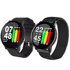 W8 Unisex Smart Watch Blood Pressure Heartrate Monitor Oxygen Fitness Bracelet