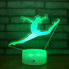 Gymnastics 3D Night Light 7 Color Change LED Acrylic Desk Table Light Lamp Toy