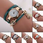New Fashion Womens Ladies Stainless Steel Bracelet Watch Leather Wrist Watches
