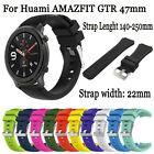 22mm Sport Silicone Wrist Watch Band Wristband Strap for Huami AMAZFIT GTR 47mm image