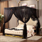 Bed Curtain Canopy Mosquito Netting Post Bedding Insect Net Twin Full Queen King image