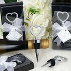 WINE BOTTLE STOPPERS Diamond Heart Wedding Favors Party Home Decorations Accents