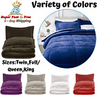 Comforter Bed Set With Pillow Shams Soft Micromink Sherpa Twin Full Queen King image