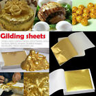 DIY 100 Sheets Gold Foil Leaf Gilding Handicrafts Craft Paper Decoration Tool