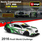 1/24 Racing Car Model Bently Continental GT3 #88 Diecast Model Car Toy For Gift