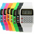 Retro Geek 80s Unusual Calculator Mens Womens Wrist Watch 8 Colours Digital Gift image