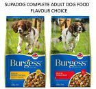 BURGESS SUPADOG ADULT BEEF CHICKEN DRY DOG FOOD COMPLETE KIBBLE 15 KG