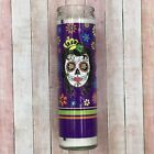 Sugar Skull - Day Of The Dead - Halloween - Prayer Candle - Choice of 3 - 7oz