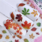 Autumn Theme 3D Nail Stickers Maple Leaves Nail Art Transfer Decals Decor Tips