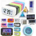 Digital Alarm Clock LED Backlight Snooze Calendar Display Night Light Portable
