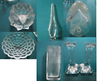 ORREFORS SWEEDEN CRYSTAL VASE CANDLE HOLDER PAPERWEIGHT EGG ETCHED PICK ONE